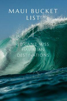 Top sights to see on the island of Maui, Hawaii for your bucket list to plan a dream Hawaiian vacation. Hawaii Honeymoon, Hawaii Vacation, Beach Trip, Dream Vacations, Vacation Ideas, Brisbane, Melbourne, Kauai, Maui Hawaii