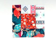 Tutorial for making a log cabin patchwork block