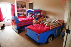 Train Bed!!!! My grandson would love this!