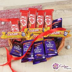 Five Kitkat Chocolates each) Five Cadbury Dairy Milk Chocolates ( each ) Four 5 Star Chocolates each) The image displayed is indicative in nature. Actual product may vary in shape or design as per the availability. Cheap Chocolate, Chocolate Day, Chocolate Shop, Chocolate Gifts, Chocolate Lovers, Delicious Chocolate, Cake Home Delivery, Same Day Delivery Gifts, Online Cake Delivery