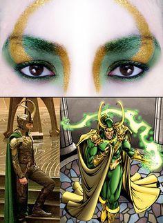 makeupftw:    Loki: God ofMischiefinspired make-up  byhttp://nighth4wk.tumblr.com/