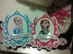 Detalhes da festa frozen das minhas princesas Cinthia(Anna ) e Sabrina (Elsa)