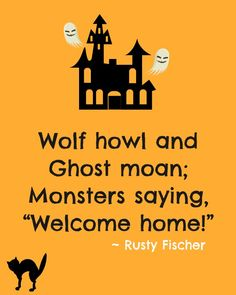Welcome home... A Halloween poem