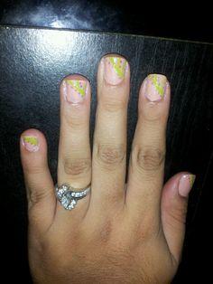 lime green nail art