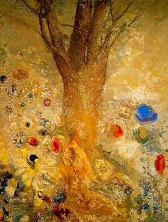 Buddha in his youth, Odilon Redon French symbolist painter, printmaker, draughtsman and pastellist. Odilon Redon, Van Gogh Museum, Poster Prints, Art Prints, Print Poster, Gustav Klimt, French Artists, Oeuvre D'art, Les Oeuvres