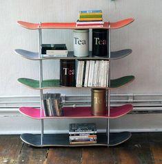 @Popurridefua  Tus hijos han dejado los monopatines...? Hazte una estanteria y dales un nuevo uso #furniturerecicled