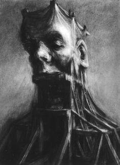 Paul Rumsey - Silence is Golden Alfred Kubin, Illustrator, Visual Metaphor, Dark Artwork, Arte Cyberpunk, Occult Art, Sketch Inspiration, Black And White Drawing, Gcse Art