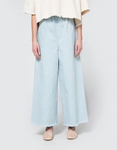Long Pant in Light Denim
