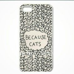 HPPhone case Because cats hard phone case. For an iPhone 6 plus. My price is firm. Accessories Phone Cases