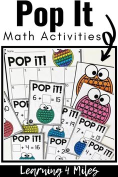Pop It Math Activities