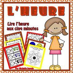 Cette ressource contient plusieurs activités et pages imprimables permettant aux élèves de pratiquer l'heure par bonds de 5 minutes.