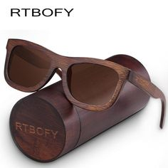 c2b5e0caf4 RTBOFY Luxurious Vintage Sunglasses with Eco-Friendly Bamboo Frame. Uv400  SunglassesPolarized ...