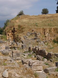 Ancient agora. The second oldest theater in what is said to be the ruins of Sparta.  GREECE.