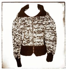 Welcome Violette Damers! Check out Vintage Handmade ... ! Available for sale at: http://www.violettedameboutique.com/products/vintage-handmade-brown-cream-zip-up-sweater-jacket-size-m?utm_campaign=social_autopilot&utm_source=pin&utm_medium=pin