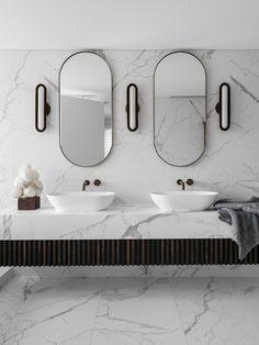 Portland Street Residence by Nina Maya Interiors - Australian Interior Design Awards Rustic Bathroom Shelves, Rustic Bathroom Vanities, Modern Bathroom, Master Bathroom, Beautiful Bathrooms, Bathroom Ideas, Art Deco Bathroom, Bathroom Gallery, Kitchen Gallery