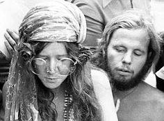 Janis Joplin & David Niehaus on Copacabana Beach in Brazil, 1970, where…
