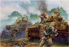 Armoured Hussars. Peter Dennis  Baustismo de fuego de la 1. División Acorazada polaca en el monte Ormel en el marco de la Operación Totalize (bolsa de Falaise), Normandía, 8 de agosto de 1944. http://www.elgrancapitan.org/foro/viewtopic.php?f=12&t=17519&p=875374#p874645