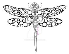 Little Snippets: Steampunk Dragonfly Lineart by IAmPickledTink on DeviantArt
