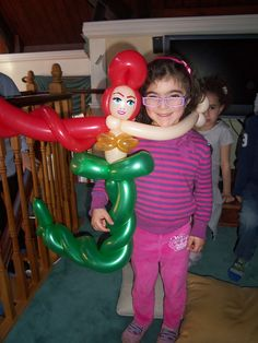 Balloon sculpture of the Little Mermaid