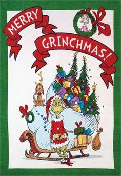 How the Grinch Stole Christmas Fleece Panel