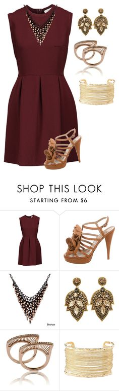 """""""Untitled #468"""" by alexandra-zalesskaya ❤ liked on Polyvore featuring Sandro, Valentino, Alexa Starr and Charlotte Russe"""