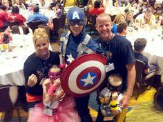 Superhero welcome dinner at the 2013 JA Conference! #kidsgetarthritistoo