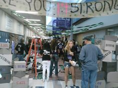 Fall Homecoming 2013 Senior Hallway decorations (4/4)