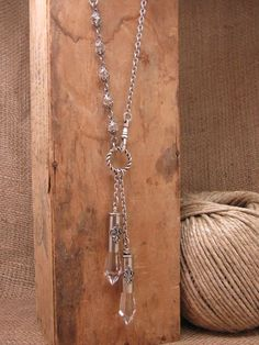– Long Length Lasso Style Icicle Chandelier Crystal Silver Bullet Necklace – A Runway Fave Bullet Jewelry – Long Length Lasso Style Nickel Silver 38 Special Bullets Loaded with Vintage Icicle Ammo Jewelry, Wire Jewelry, Jewelry Art, Beaded Jewelry, Vintage Jewelry, Jewelry Accessories, Jewelry Necklaces, Jewelry Design, Unique Jewelry