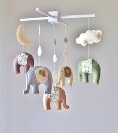 This is the cutest mobile ever! And I love elephants.