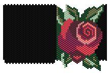Diana Rose Peyote Pattern by Charley Hughes AKA BeadyBoop at Bead-Patterns.com