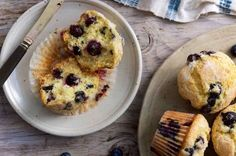 Blueberry Muffins | King Arthur Flour: Bursting with blueberries, tender and sweet, this muffin batter will keep in the refrigerator for up to a week; bake them as needed.