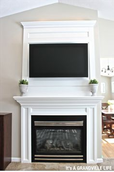 It's A Grandville Life : DIY Board and Batten Fireplace