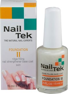Nailtek Foundation No.2 Ridge-Filling Nail Strengthener Base Coat, 0.5 Fluid Ounce ** Awesome product. Click the image : Skin Care