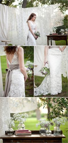 i love the lace and baby's breath
