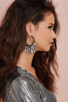 Ear No Evil Jeweled Earrings   Shop Sale at Nasty Gal