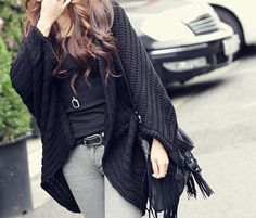 $10.85Lady Sweater Coat Knitting Long Cardigan Shawl Outwear