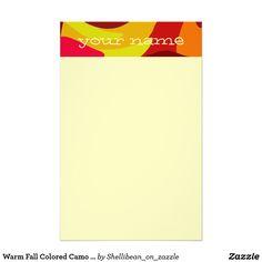 Warm Fall Colored Camo Swirl Design Your Name