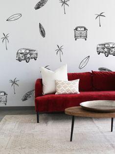Sunnyside Van Watercolour Wall Decals