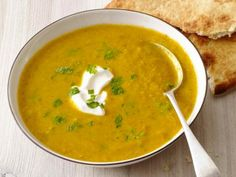 Spicy Lentil soup - Use 2 serrano peppers and try chicken broth instead of water as base.