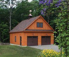 26' x 30' Concord Garage Pole Barn Garage, Garage Shed, Car Garage, Detached Garage, Pole Barns, Garage Workshop, Shed Design, Garage Design, Design Design