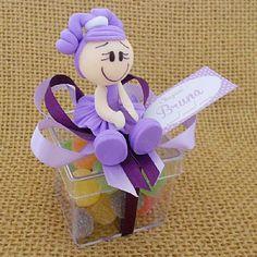 Lembrancinha Maternidade e Chá de Bebê Caixa com Menina Biscuit e Balas $6.90