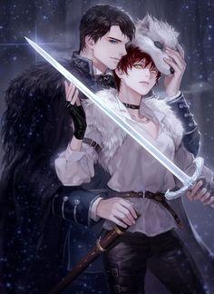 Anime Couples Drawings, Anime Couples Manga, Cute Anime Couples, Dark Anime Guys, Cool Anime Guys, Anime Art Girl, Manga Art, Lobo Anime, Romantic Manga