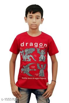 Tshirts & Polos Elegant Cotton Knitted Boy's T-shirt  *Fabric* Cotton Knitted  *Sleeves* Half Sleeves Are Included  *Size* Age Group (2 - 3 Years) - 20 in Age Group (3 - 4 Years) - 22 in Age Group (5 - 6 Years) - 24 in Age Group (7 - 8 Years) - 26 in Age Group (9 - 10 Years) - 28 in Age Group (10 - 11 Years) - 30 in Age Group (11 - 12 Years) - 32 in Age Group (12 - 13 Years) - 34 in  *Type* Stitched  *Description* It Has 1 Piece Of Boy's T-shirt  *Work* Printed  *Sizes Available* 2-3 Years, 3-4 Years, 5-6 Years, 7-8 Years, 8-9 Years, 9-10 Years, 10-11 Years, 11-12 Years, 12-13 Years *    Catalog Name: Stylo Bug Amazing Cotton Knitted Boy's T-shirts Vol 4 CatalogID_127840 C59-SC1173 Code: 091-1050162-