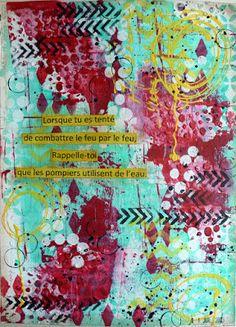 Wood And Fabric: Du art journal...