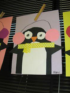 Keen On Kindergarten: Winter Art Projects - Penguins. Winter Art Kindergarten, Kindergarten Art Projects, Classroom Art Projects, School Art Projects, Art Classroom, School Ideas, Classroom Ideas, Winter Thema, Tapas