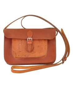 Tan Leather Jameson Crossbody Bag #zulily #zulilyfinds