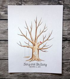 Wedding guest book tree giveaway! Enter to win a free hand painted tree from www.spottednest.com  http://oldermommystillyummy.com/2014/05/20061-guest-book-tree.html