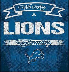 Detroit Lions Family Cheer Framed Art