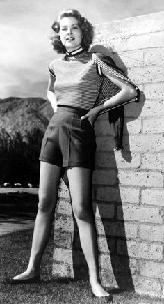 Grace Kelly in shorts 1950's