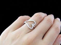 Beautiful! .4 carat Heart Shaped Diamond Anniversary, Fashion, Engagement Ring, Man Made, Wedding, Bridal, Sterling Silver, 7, 8, 9 on Etsy, $29.99